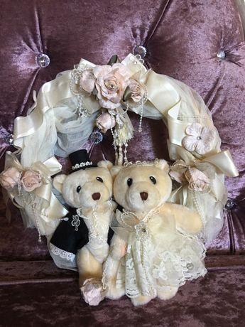 Coroa de decoração de ursinhos