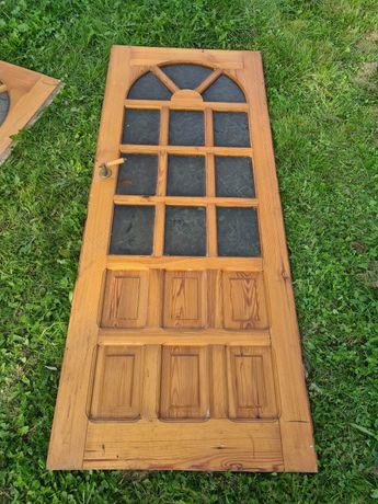 Drzwi drewniane 80 lewe