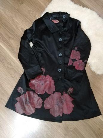 Płaszcz desigual damski r r. 42 44 czarny kurtka