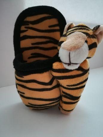 Pluszowa kieszonka samoprzylepna z tygrysem