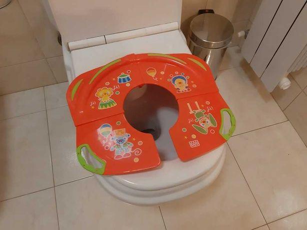 Redutor de sanita portátil, dobrável – Como novo, em muito bom estado.
