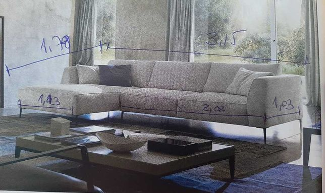 Sofa Sala com Chase Longue 3,15m- CHATEAU D'AX