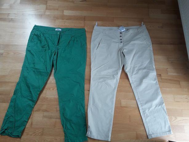 2 pary spodni chino r. 48 bonprix stan bdb
