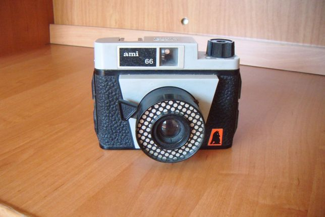 aparat fotograficzny analogowy ami 66 retro vintage PRL