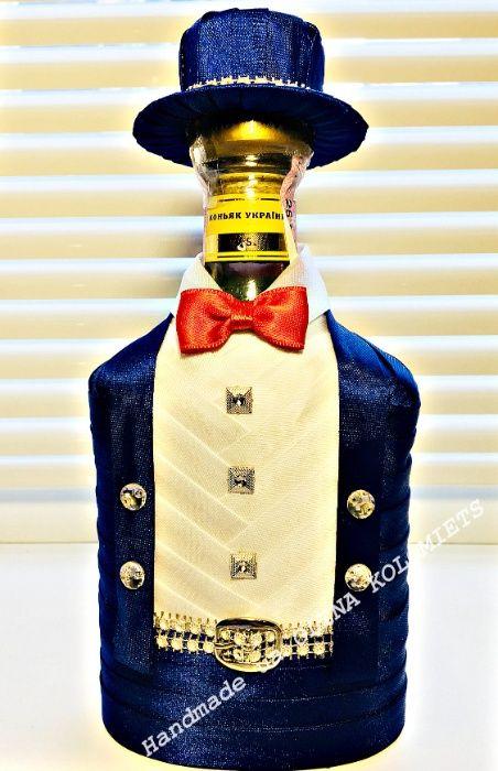Украшение бутылок, праздник, костюм, наряд, шляпа, футляр, handmade Киев - изображение 1