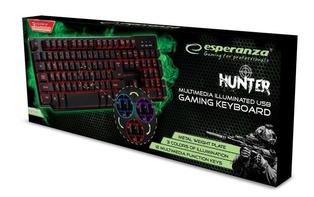 Esperanza klawiatura dla graczy gamingowa led usb przewodowa