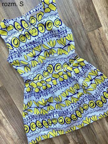 Żółta bawełniana sukienka w rozm. S