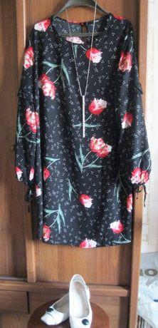 Нежное платье, вискоза размер 44 европ на 48-50-й укр