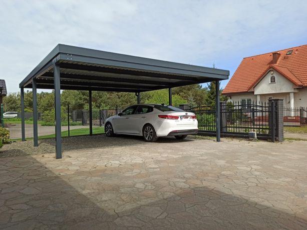 Carport Wiata garażowa zadaszenie tynkowana