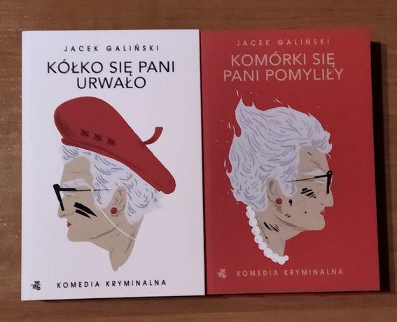 zestaw książek komedia kryminalna.