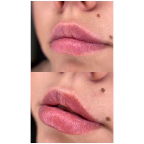 Пудровые брови, акварельные губы. Перманентный макияж.
