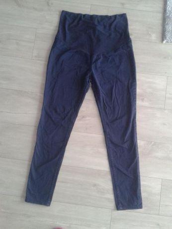 Granatowe spodnie rurki ciążowe elastyczne H&M Mama r.L/XL