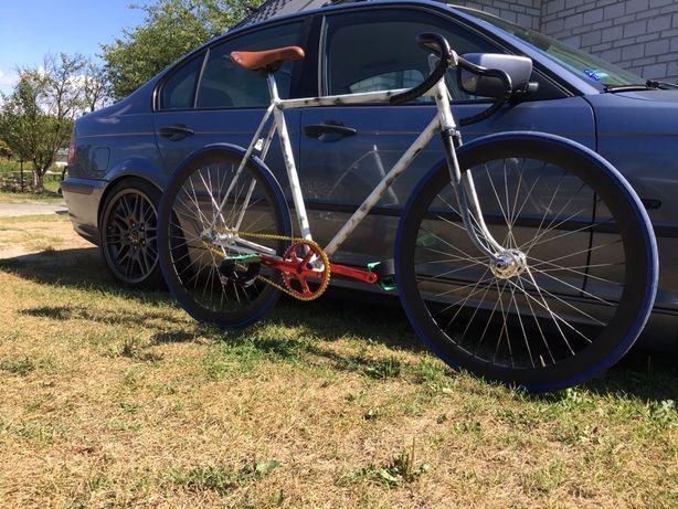 Rower szosowy ostre koło fixed gear fixie puch clubman sport niemiecki