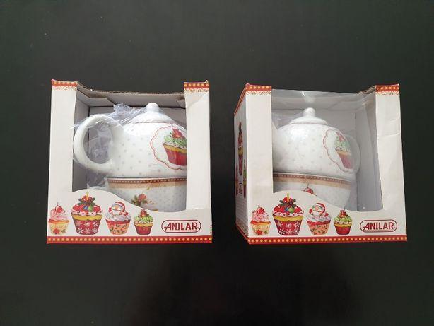 2 Conjuntos Chá Anilar