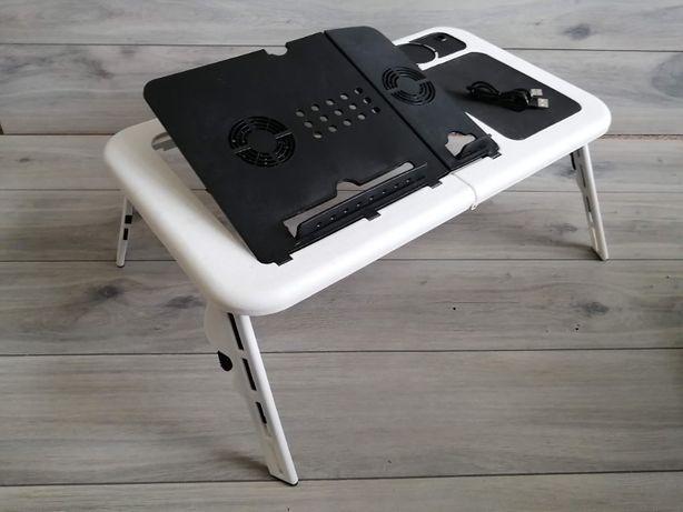 Stolik Pod Laptopa do Łóżka Chłodzenie SKŁADANY E-TABLE