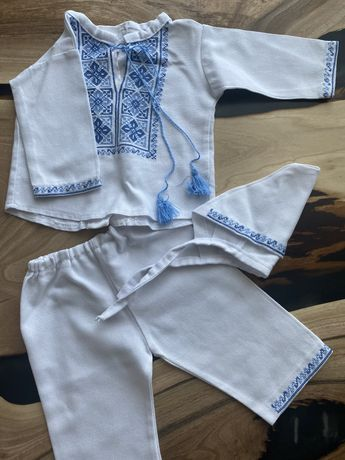 Вышиванка на мальчика 3 месяца, одежда на крестины