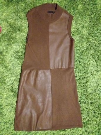 Brązowa oryginalna sukienka STRADIVARIUS 36