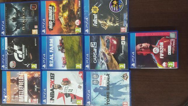 Konsola Sony PS4 SLIM GT 2 PADY + kierownica + gry 10szuk GT 1TB fifa