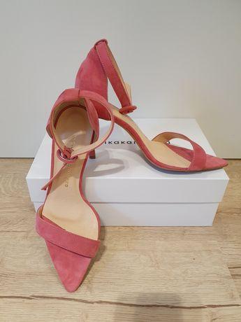 Sandały na szpilce 36, Star Pink, Monika Kamińska
