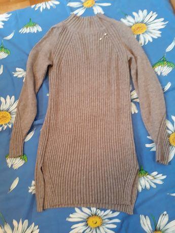 Платье-туника теплая