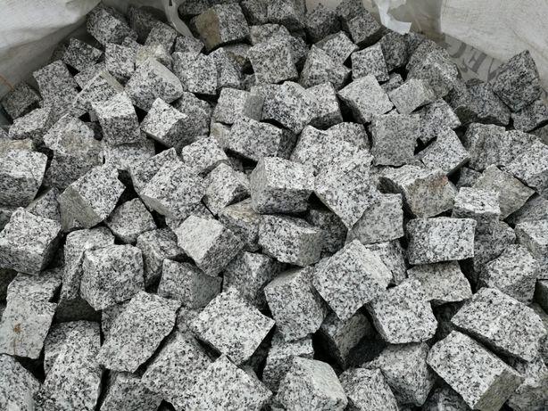 Cały TIR (24 tony) - kostka granitowa 4/6 szara Strzegomska, brukowa