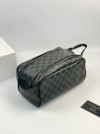 фМужская косметичка несессер сумочка для косметиеки Гуччи Gucci c238