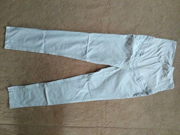 Spodnie ciążowe beżowe z pasem, rozmiar 38, H&M Mama