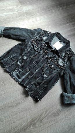 Nowa katana,kurtka jeansowa roz.universalny,cekiny