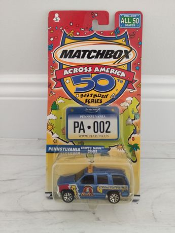 Matchbox Pennsylvania 50th Birthday Across America Chevy Tahoe Police