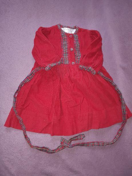 Sztruksowa sukienka 80 cm