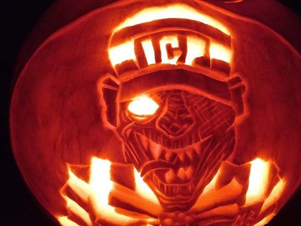 Ręcznie rzeźbiona dynia Insane Clown Posse Juggalo Halloween