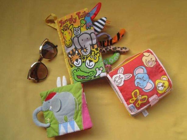 Развивающиеся шуршащие книжки - сумочки для малышей Simba, Jellycat