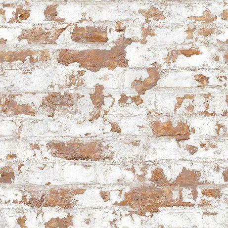 Tapeta ścienna stara biała cegła kamień mur LOFT