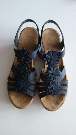 Sandałki skóra reiker roz. 37 jak nowe