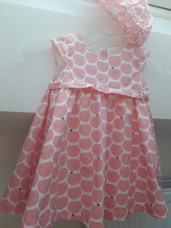 Sukienka wizytowa Okaidi 9-12 miesięcy