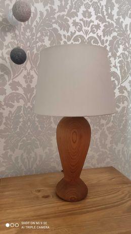 Lampa stołowa nocna drewniana vintage shabby chic