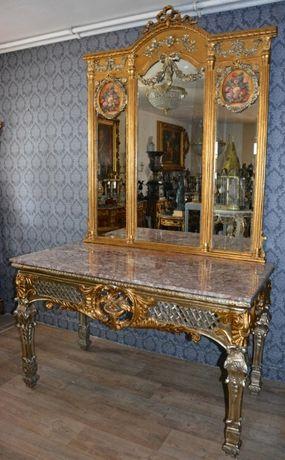 Mesa com espelho bancada de mármore-imagem pintada