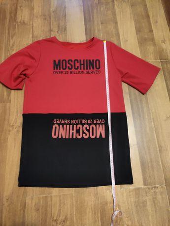 Футболка-платье оверсайз moschino