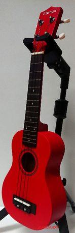 Ukulele Sopranowe Kolorowe Drewniane + Kolorowy Pokrowiec GRATIS Red