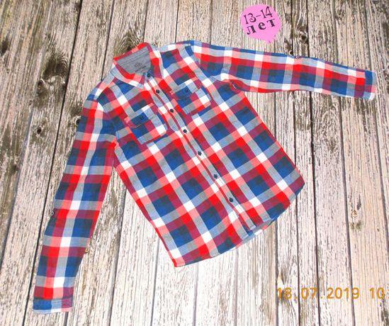 Фирменная рубашка F&F для мальчика 13-14 лет. 158-164 см