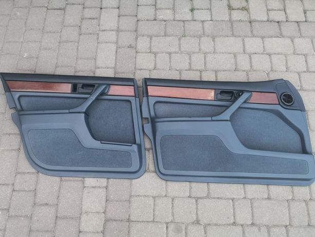 Boczki Welur Granatowe BMW E32