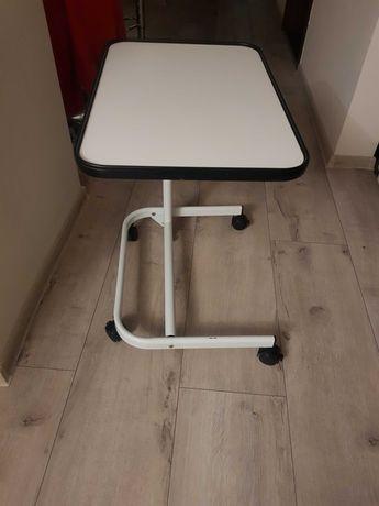 stolik przyłóżkowy regulowany masywny 60x40