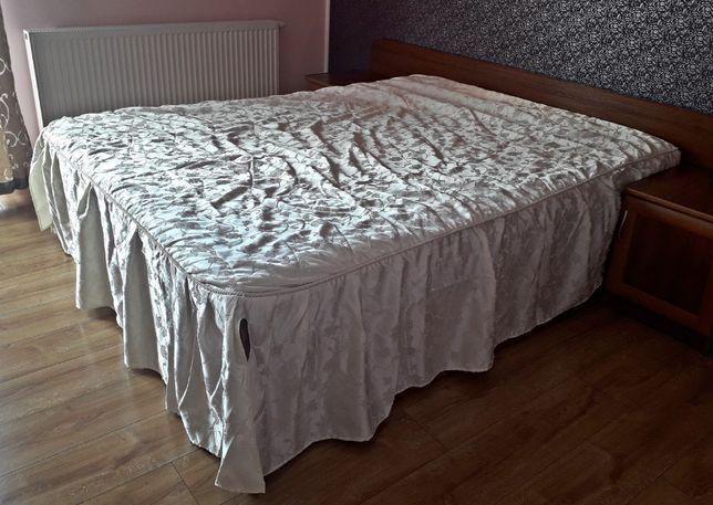 Wyszywana, stylowa narzuta na łóżko. Kremowa, duża - PIĘKNA