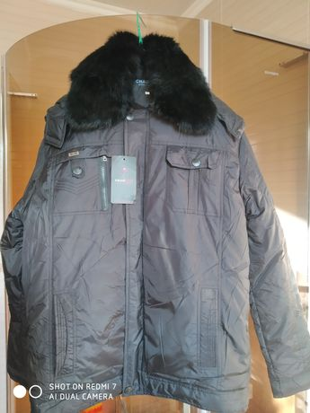 Куртка новая зимняя мужская черная с капюшоном 46-48 размер.  400 грн.