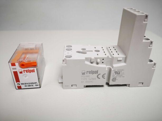 Электромагнитное реле Relpol R4N-2014-23-5230-WTL колодка GZM4