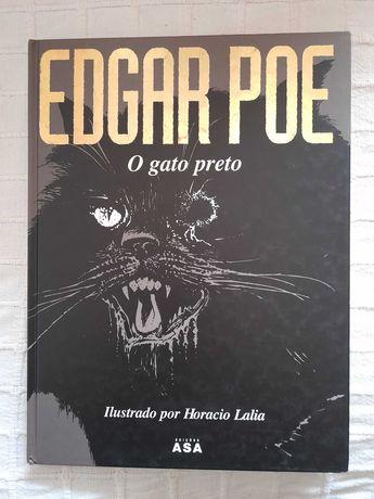 O Gato Preto - Edgar Allan Poe e Horacio Lalia / Portes Grátis