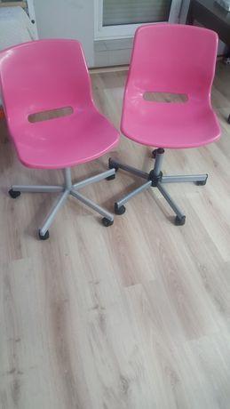 Krzesła Ikea biurkowe różowe