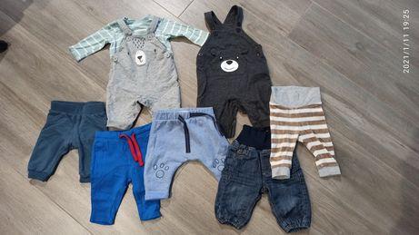 Paka Spodnie niemowlęce na szelkach 62/68