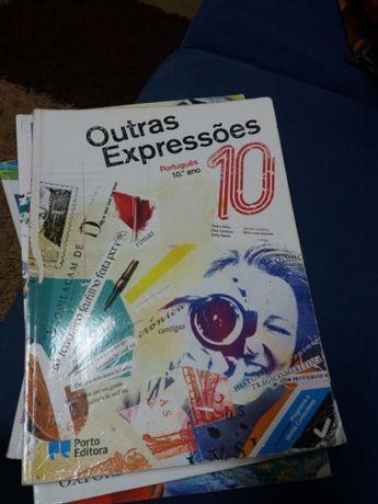 Manual e caderno de atividades de português 10 ano