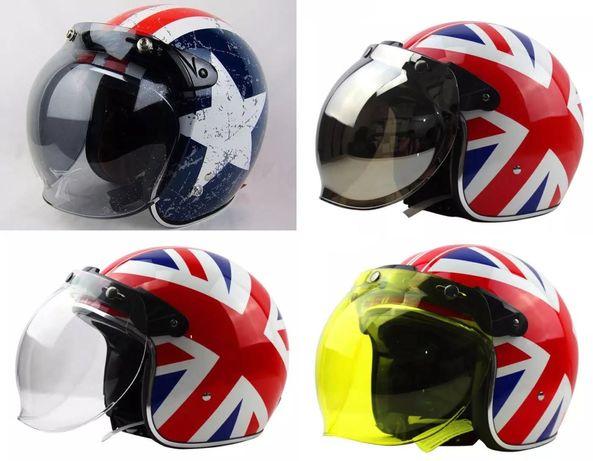 Viseiras bolha (bubble) para capacete moto